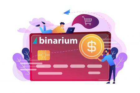 Cách gửi tiền vào Binarium