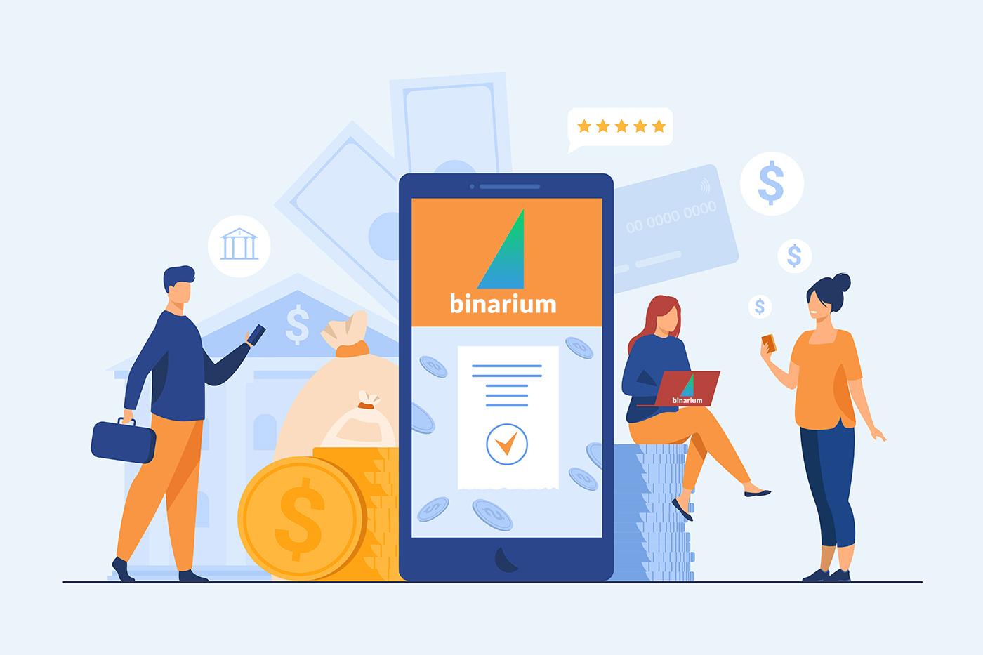 Wie man im Binarium Geld abhebt und einzahlt