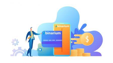 So melden Sie sich an und heben Geld von Binarium ab