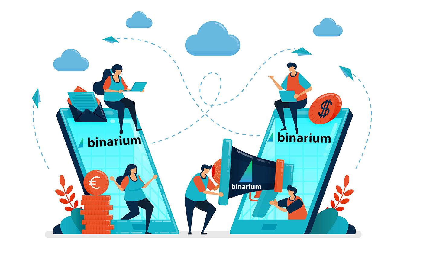 So treten Sie dem Partnerprogramm in Binarium bei